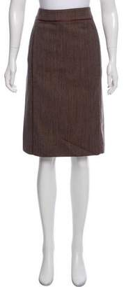Calvin Klein Collection Wool Blend Pencil Skirt