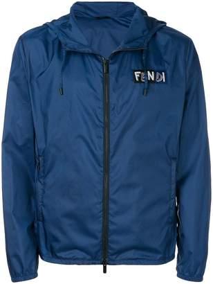 Fendi logo bomber jacket
