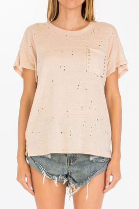 Olivaceous Hole Studded Top $48 thestylecure.com