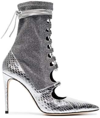 Liudmila Silver Mille Hortense 100 sock boots