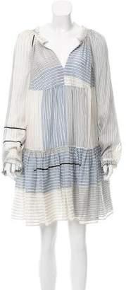 Stella McCartney Striped Long Sleeve Tiered Dress