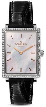 Mother of Pearl Gomelsky The Shirley Mother-of-Pearl & Alligator Strap Watch, 25mm x 32mm