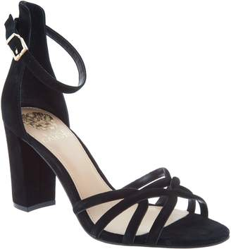 Vince Camuto Suede Multi Strap Heeled Sandals - Catelia