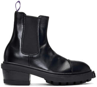 Eytys Black Leather Nikita Chelsea Boots