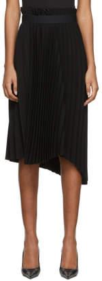 Balenciaga Black Fancy Pleated Skirt