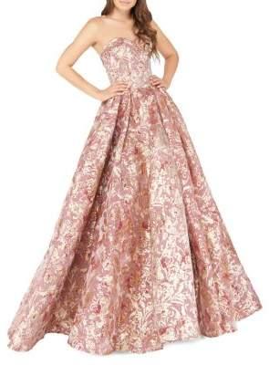 Mac Duggal Glitter Sweetheart Neckline Ball Gown