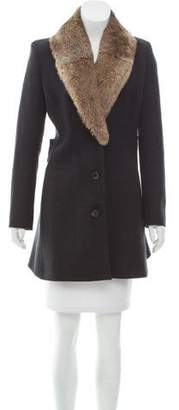 Derek Lam Fur-Trimmed Wool Coat