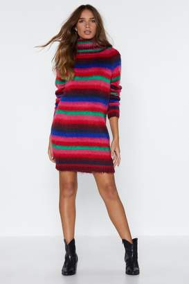 Nasty Gal Morning Side Knit Sweater Dress