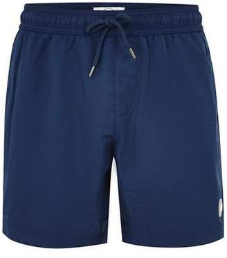 Topman Mens Navy Mid Length Swim Shorts
