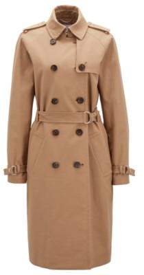 BOSS Hugo Trench coat in stretch cotton hardware details 12 Beige