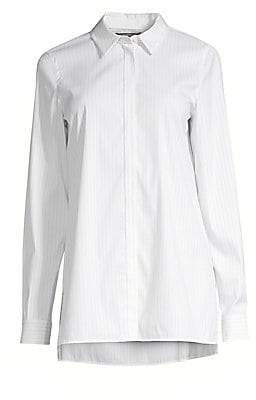 Lafayette 148 New York Women's Bray Button-Front Blouse