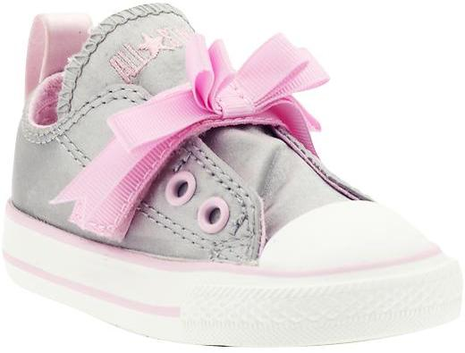 Converse Pink Bow Simple Slip (Infant/Toddler)