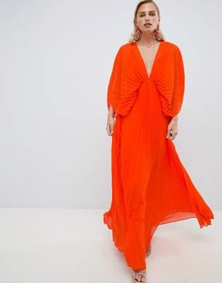 Asos Design DESIGN pleated kimono maxi dress