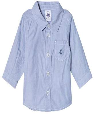 Petit Bateau Blue Dress Shirt