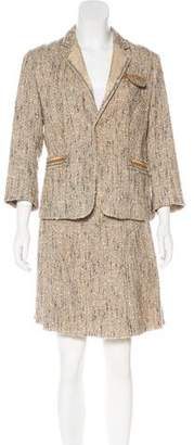 Prada Wool-Blend Skirt Suit