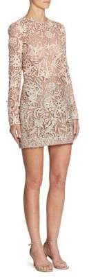 J. Mendel Embroidered Silk Dress