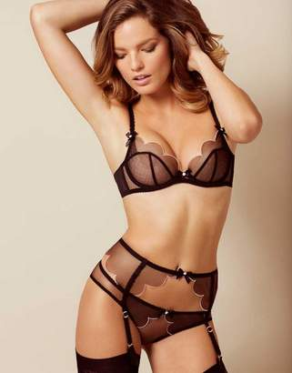 Agent Provocateur Lorna Suspender Black With Pink Trim
