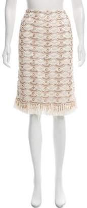 Naeem Khan Embellished Knee-Length Skirt