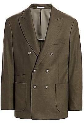 Brunello Cucinelli Men's Wool Double-Breasted Jacket