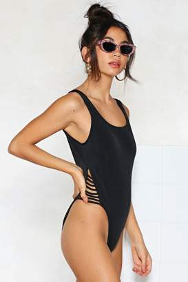 Nasty Gal Back Me Up Strappy Swimsuit