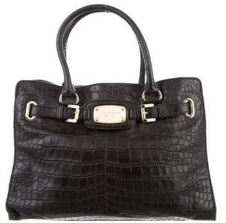Michael Kors Embossed Leather Hamilton Bag