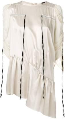 Ann Demeulemeester drawstring detail tunic dress