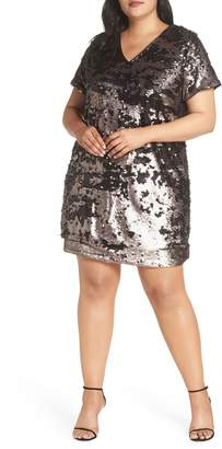 1 STATE 1.STATE Sequin Shift Dress