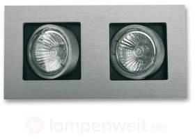 Zweiflammige LED-Einbauleuchte Multi schwenkbar
