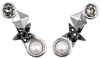 Karl Lagerfeld Eclectic Stud Swarovski Crystal Accented Ear Crawlers