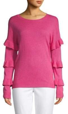 Saks Fifth Avenue Tiered Ruffled-Sleeve Sweater