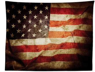 vipsung American Flag Decor Tablecloth United States Flag with Damaged Effects and Dated Macro National Pride Photo Dining Room Kitchen Rectangular Table Cover Multi