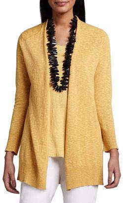 Eileen Fisher Open Slub Cardigan $188 thestylecure.com