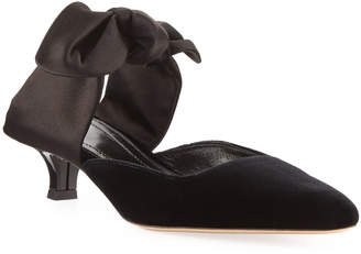 The Row Coco Bow-Tie Mule Pump