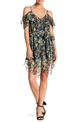 KENDALL + KYLIE Kendall & Kylie Floral Ruffle Wrap Dress