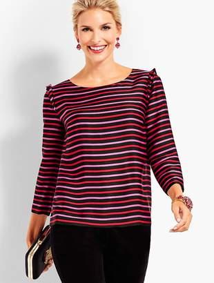 Talbots Silky Twill Top - Stripes