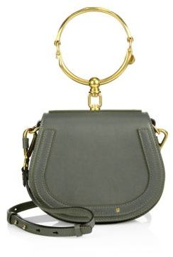 Chloe Small Nile Leather & Suede Saddle Bag $1,550 thestylecure.com