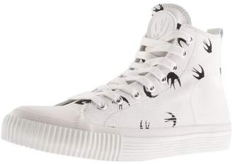 Logo High Top Trainer White