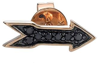 Sydney Evan Black Diamond Arrow Stud Earring - Rose Gold