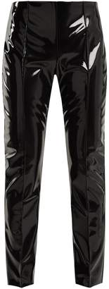 Slim-leg vinyl trousers