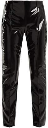 Slim-leg vinyl trousers