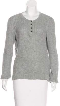 Rag & Bone Cotton Long Sleeve Henley Shirt