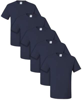 Blend of America Jerzees Dri-Power Active Adult Tee, L, J. Navy (Pack of 5)