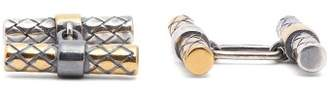 Bottega Veneta Gold And Silver Bar Cufflinks - Mens - Silver Multi