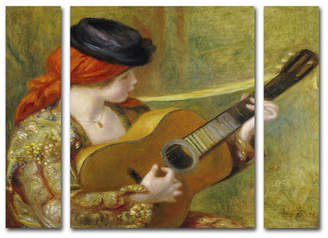 """Pierre Auguste Renoir 'Young Woman with a Guitar' Multi Panel Art Set Large - 25"""" x 30"""""""