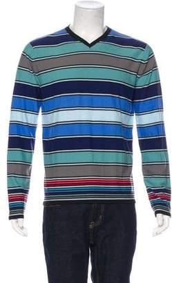 Rykiel Homme Striped V-Neck Sweater