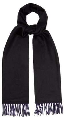 Co Begg & Arran Reversible Cashmere Scarf - Mens - Black Navy