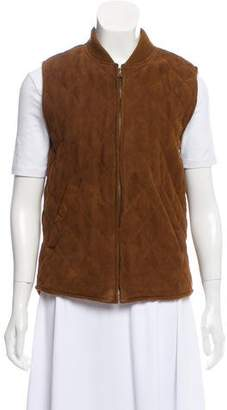 Loro Piana Quilted Suede Vest