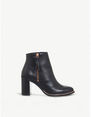 Office Ava heeled leather ankle boots