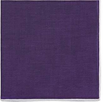 Simonnot Godard Men's Contrast-Edge Cotton Pocket Square