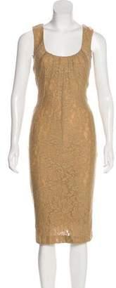 Dolce & Gabbana Wool Bodycon Dress